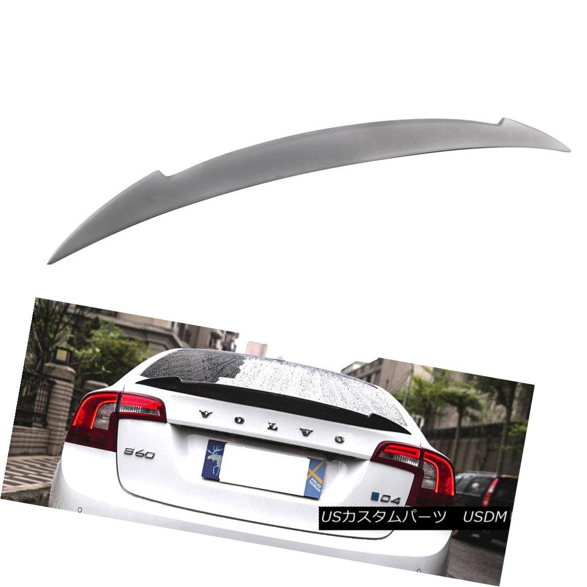 エアロパーツ Unpainted For VOLVO S60 4Dr V Style Trunk Boot Spoiler T6 T4 11-18 VOLVO S60 4Dr Vスタイルトランクブーツ・スポイラーT6 T4 11-18未塗装