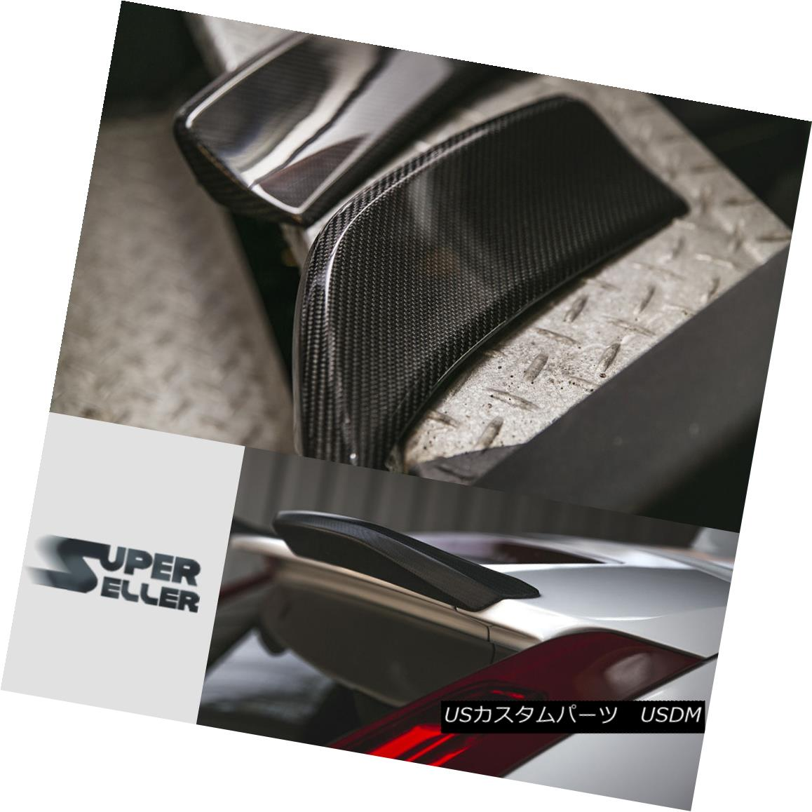 エアロパーツ Carbon Fiber For VOLVO XC60 CUV 5DR Rear Trunk Boot Spoiler 1 Pair 2017 ボルボXC60 CUV 5DRリアトランクブーツスポイラー1ペア2017用炭素繊維