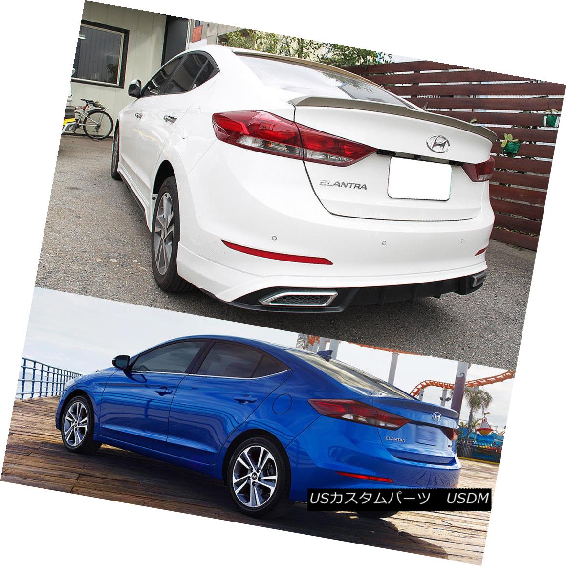 エアロパーツ Painted 2018 For Hyundai Elantra AD Avante LE GLS Sedan OE Type Trunk Spoiler Hyundai Elantra AD Avante LE GLSセダンOEタイプトランク・スポイラー