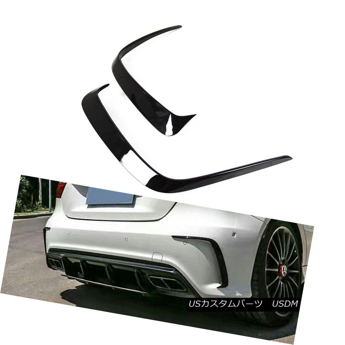 エアロパーツ Painted Color For Mercedes BENZ A W176 5DR Rear Sport Vent Lip Splitter Cover メルセデスベンツの塗装色ベントA W176 5DRリアスポーツベントリップスプリッターカバー