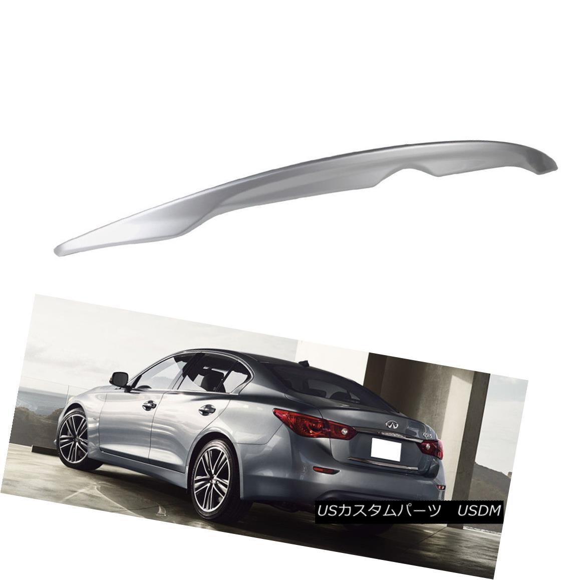エアロパーツ ABS Paint #K23 For INFINITI Q50 OE Type Rear Trunk Boot Spoiler 4DR Sedan Sport ABSペイント#K23 INFINITI Q50 OEタイプ用リアトランクブーツスポイラー4DRセダンスポーツ