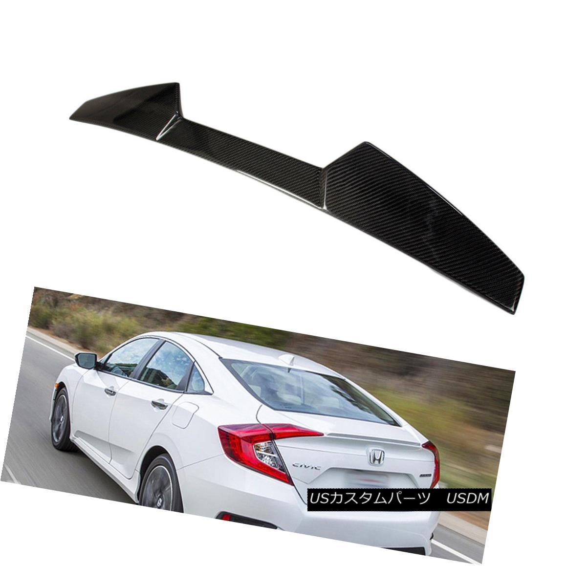 エアロパーツ Carbon Fiber For Honda Civic 2018 Spoiler EX-L 10th X Sedan V Look Roof Spoiler 2018 EX-L EX-T ホンダシビック10th XセダンVルーフスポイラー2018 EX-L EX-T用カーボンファイバー, ニットのお店キラキラ星:a3bd62b3 --- sunward.msk.ru