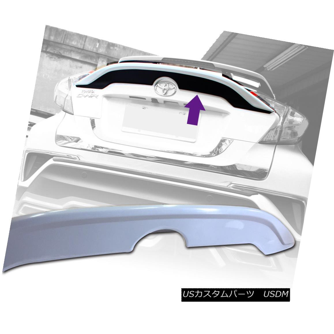 エアロパーツ Painted ABS For TOYOTA C-HR CHR SUV 5DR B Look Trunk Spoiler 18up TOYOTA C-HR CHR SUV 5DR Bルック・トゥーク・スポイラー18up用塗装済みABS