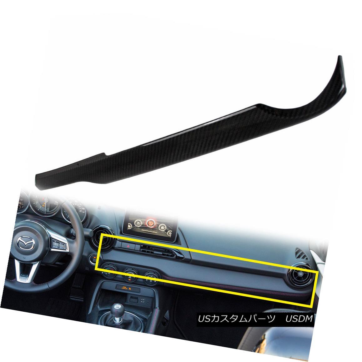 エアロパーツ Carbon Miata MX-5 Roadster Interior Console Panel Trim US Left Drive For Mazda Carbon Miata MX-5ロードスターインテリアコンソールパネルマツダのための米国の左ドライブをトリム