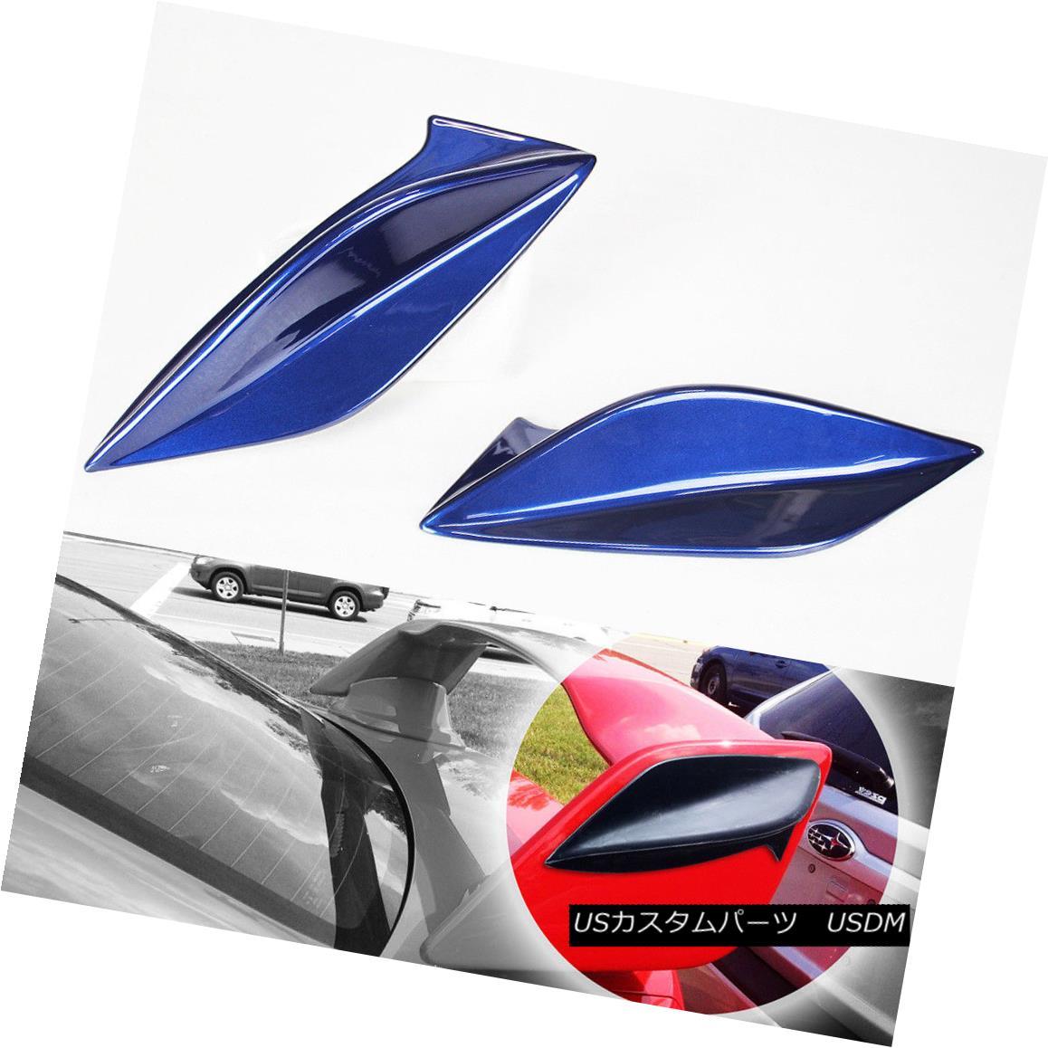 エアロパーツ Painted Color #E8H For Subaru WRX 4th Sedan For STI Spoiler Side Fin Cover 15-18 塗装色#E8Hスバルスポイラーサイドフィンカバー用スバルWRX第4セダン用15-18