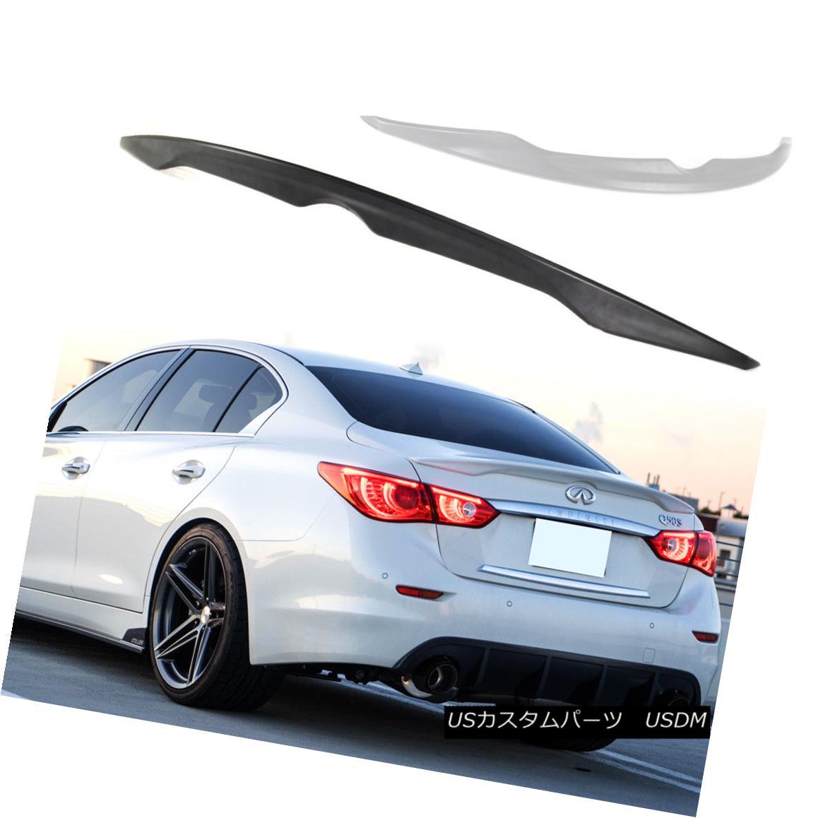 エアロパーツ ABS Paint Color For INFINITI Q50 OE Type Rear Trunk Spoiler 4DR Sedan Sport ABSペイントカラーインフィニティQ50 OEタイプリアトランクスポイラー4DRセダンスポーツ