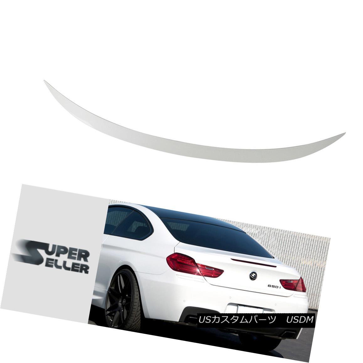 エアロパーツ BMW 6-Ser F13 2D Coupe V Type Trunk Spoiler Painted Color #300 White 640i M6 BMW 6-Ser F13 2DクーペVタイプトランクスポイラーペイントカラー#300ホワイト640i M6