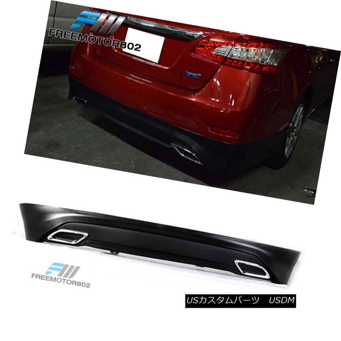 エアロパーツ Fits13 14 15 16 17 Nissan Sentra OE Style Rear Bumper Lip Urethane フィット13 14 15 16 17日産セントラOEスタイルリアバンパーリップウレタン