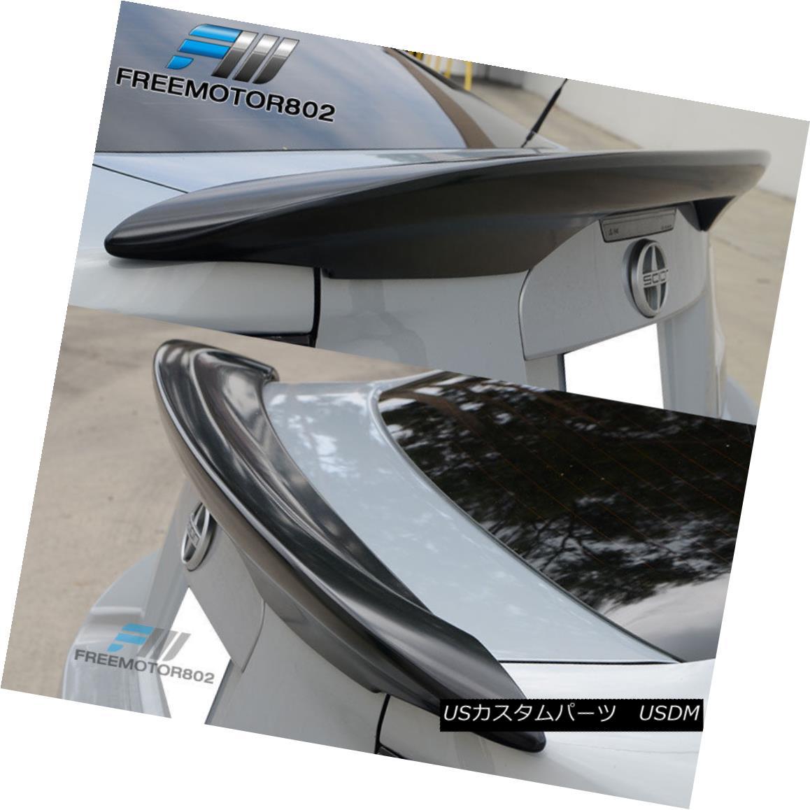 エアロパーツ For 11-16 Scion tC OE Style Rear Trunk Spoiler Wing Unpainted Matte Black 11-16シオン用tC OEスタイルリアトランクスポイラーウイング無塗装マットブラック