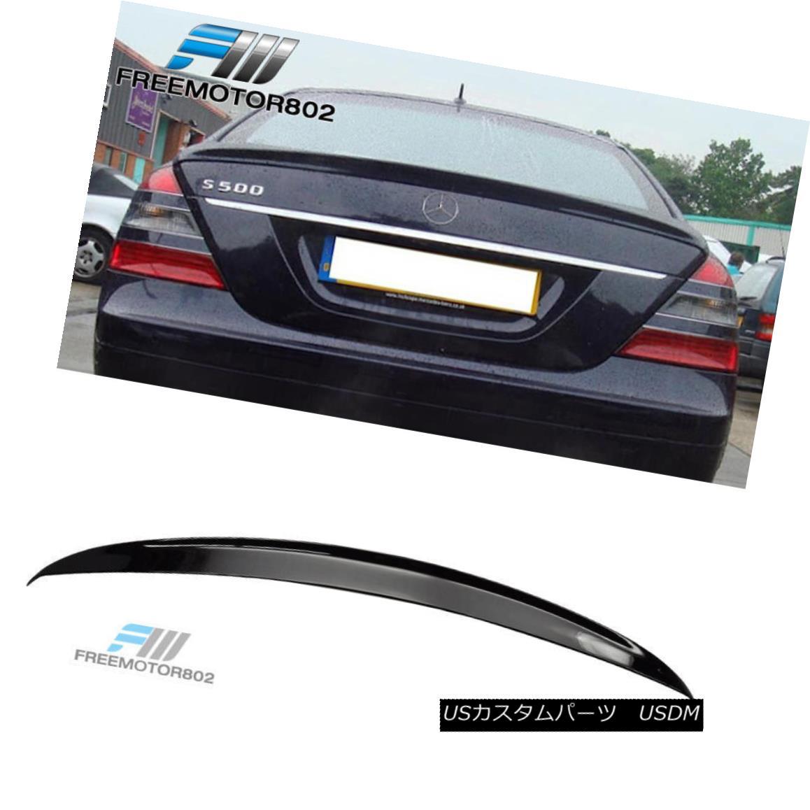 エアロパーツ Fit 07-13 Mercedes-Benz W221 S-Class ABS Rear Trunk Spoiler Black #040 Painted フィット07-13メルセデスベンツW221 SクラスABSリアトランク・スポイラーブラック#040塗装済