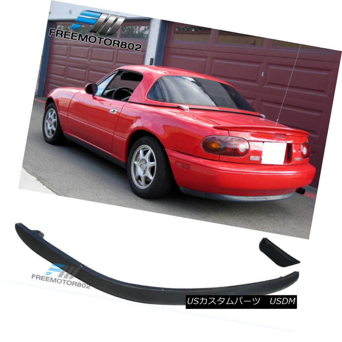 エアロパーツ For 90-97 Mazda Miata MX5 RS Style Rear Bumper Lip Spoiler Kit PU 90-97マツダMiata MX5 RSスタイルリアバンパーリップスポイラーキットPU