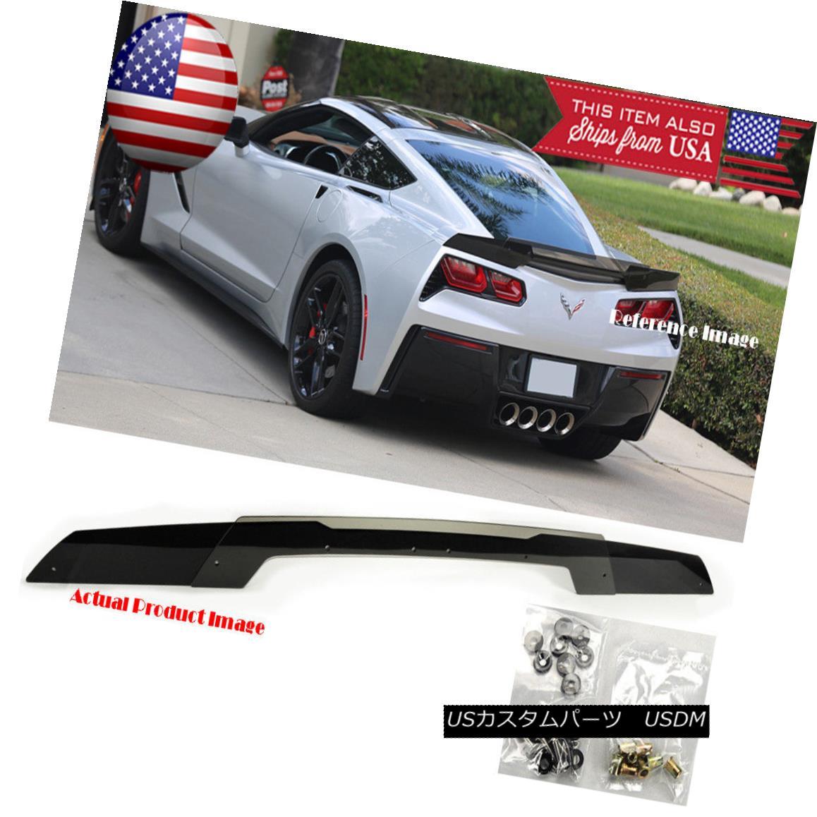 エアロパーツ Rear Trunk Wing Spoiler Gurney Flap Wicker bill For 14-Up Corvette C7 Stingray 後部トランクウィングスポイラーガーニーフラップWicker bill for 14-UpコルベットC7スティングレー