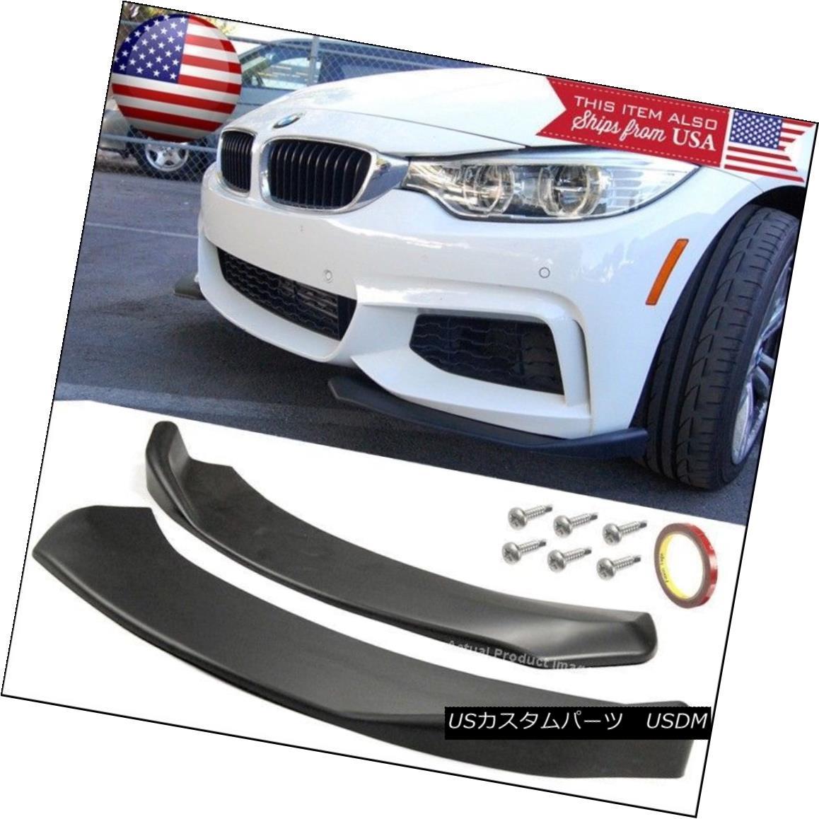 Front Bumper Lip Diffuser Fin Spoiler Splitters Winglet Blade For VW  Porsche