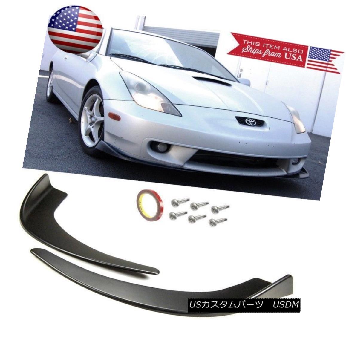 Front Bumper Lip Valance Spoiler Chin  Splitters Winglet Blade For  Hyundai Kia