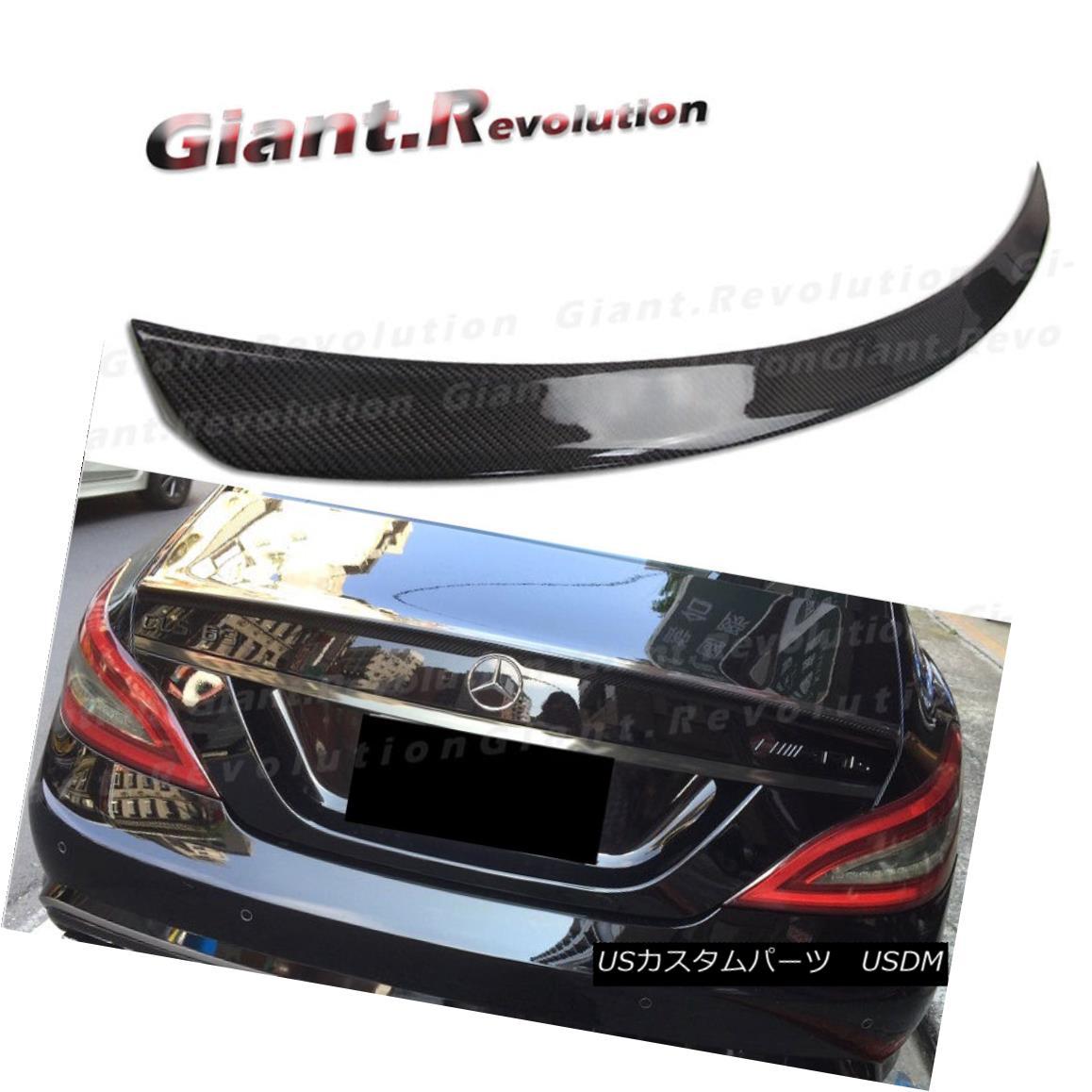 エアロパーツ For Benz 11-16 W218 CLS500 CLS350 4DR Carbon Fiber A Look Rear Trunk Spoiler Lid ベンツ11-16 W218 CLS500 CLS350 4DR炭素繊維ルックリアトランク・スポイラー・リッド