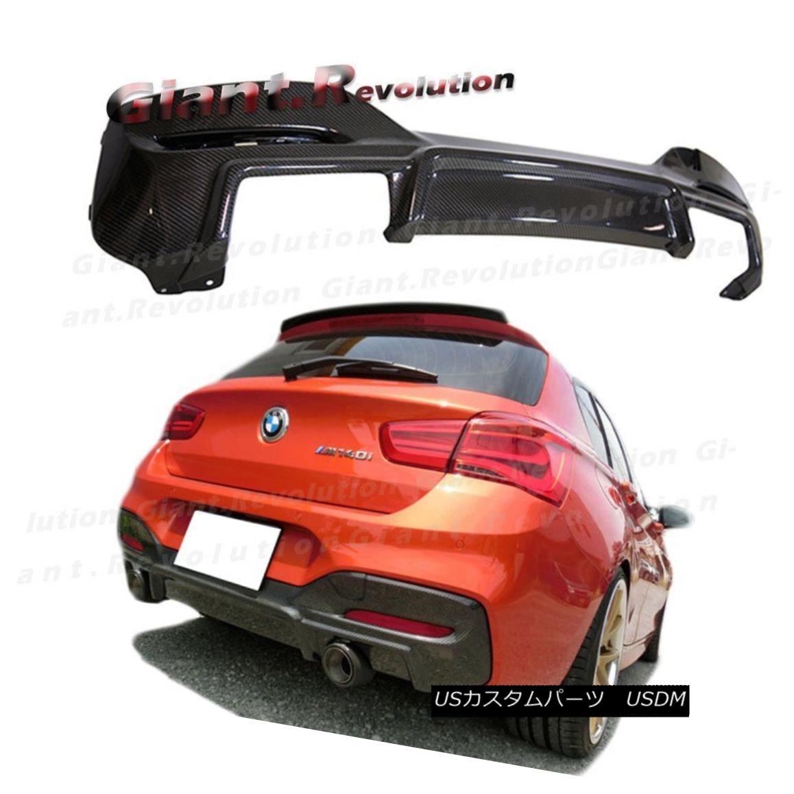 エアロパーツ E.CC Type Carbon Fiber M-Tech Bumper Rear Diffuser For 15UP F20 F21 LCI Hatchbak E.CCタイプカーボンファイバーM-Techバンパーリアディフューザー、15UP F20 F21 LCIハッチバック