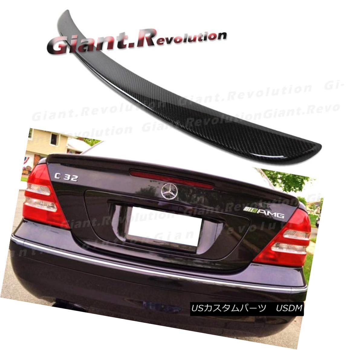 エアロパーツ 3K Carbon Fiber 01-07 Benz W203 C-Sedan A Look Rear Trunk Spoiler C320 C240 4DR 3Kカーボンファイバー01-07ベンツW203 C-セダンルックリアトランクスポイラーC320 C240 4DR