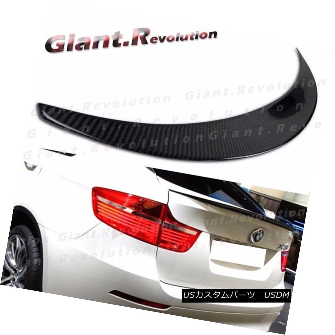 エアロパーツ Carbon Fiber Performance Rear Trunk Spoiler Fit BMW 08-13 E71 X6 Hatchback Boot BMW 08-13 E71 X6ハッチバックブーツにフィットする炭素繊維性能リアトランク・スポイラー