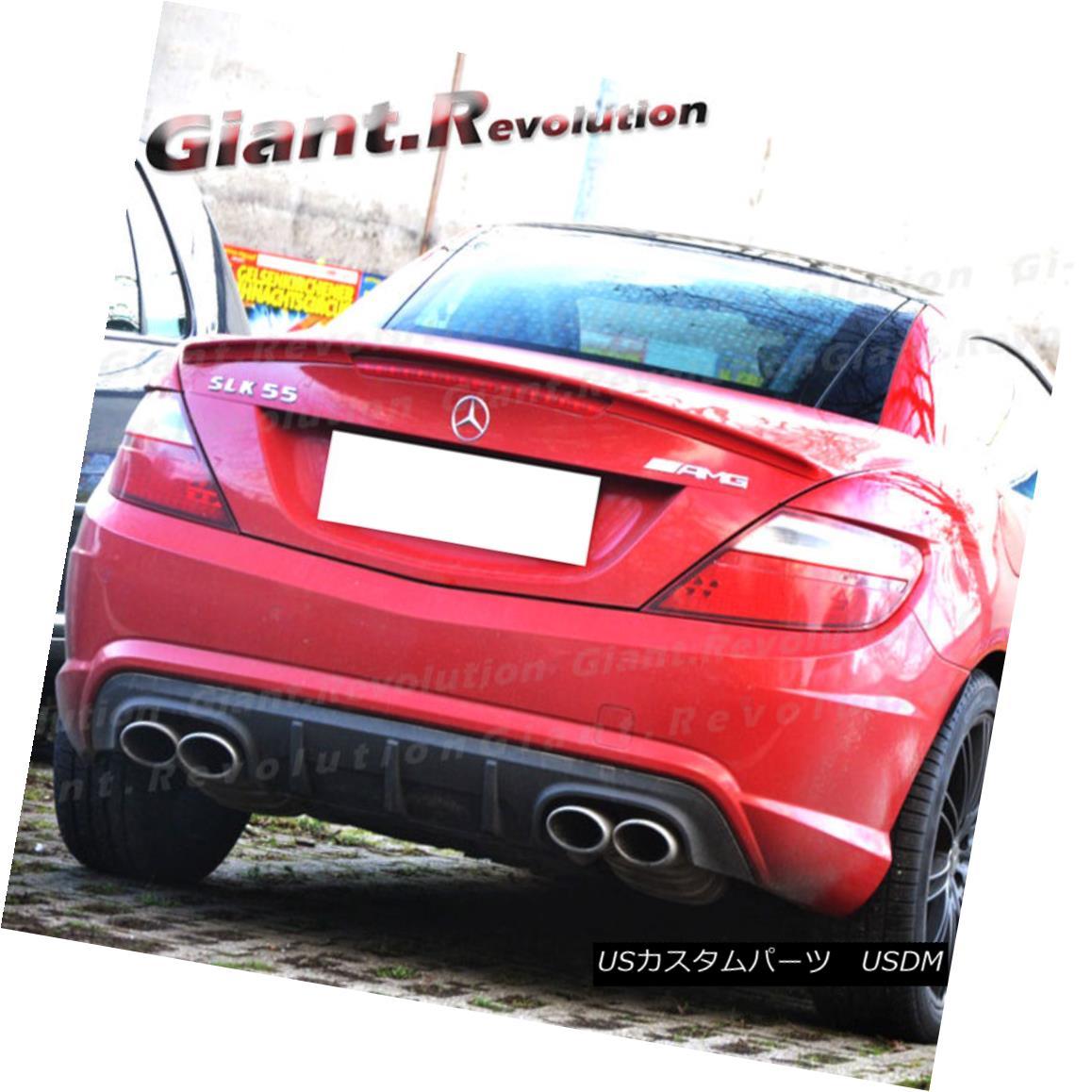 エアロパーツ Fit 2011-15 M Benz R172 SLK55 AMG SLK250 COATED COLOR A Type Trunk Spoiler Wing Fit 2011-15 MベンツR172 SLK55 AMG SLK250コートカラーAタイプトランクスポイラーウイング