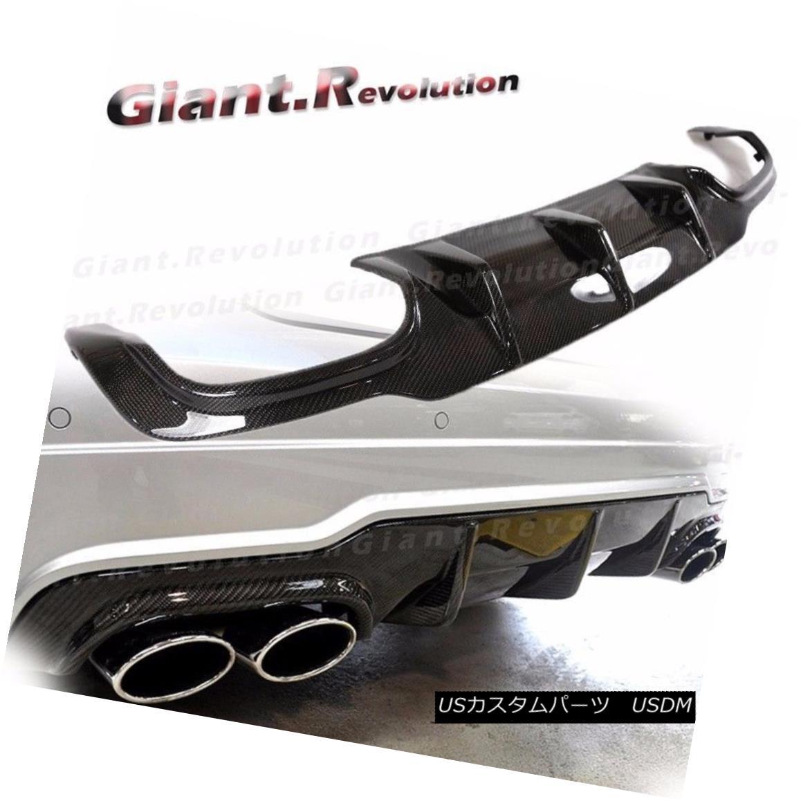 エアロパーツ Carbon Fiber Rear Diffuser For 12-14 BENZ W204 C-Class C63 C300 Sedan AMG Bumper カーボンファイバリアディフューザー12-14ベンツW204 CクラスC63 C300セダンAMGバンパー