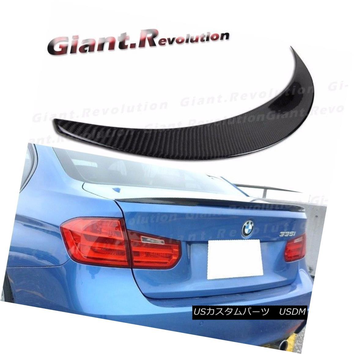 エアロパーツ Carbon Fiber P Type Rear Trunk Add on Spoiler For BMW 12-16 F30 328i 335i Sedan BMW 12-16 F30 328i 335iセダン用カーボンファイバーPタイプリアトランクアドオン