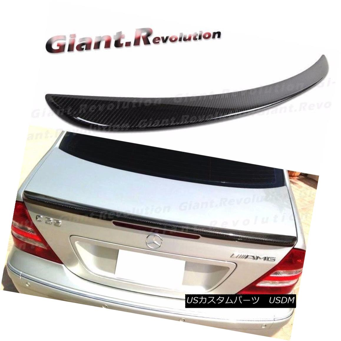 CF Fits 01-07 Benz C-Class W203 Trunk Spoiler Carbon Fiber