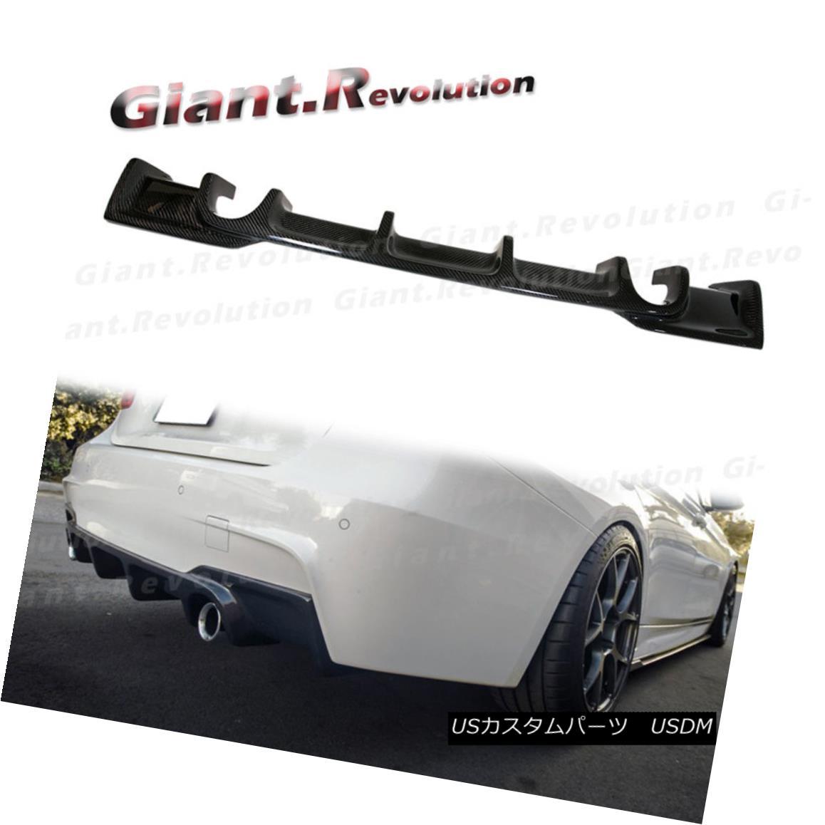 エアロパーツ Fit On 12-15 BW F30 335i M Sport Bumper Carbon Fiber AK Style Rear Diffuser Tail フィット12-15 BW F30 335i Mスポーツバンパー炭素繊維AKスタイルリアディフューザーテール
