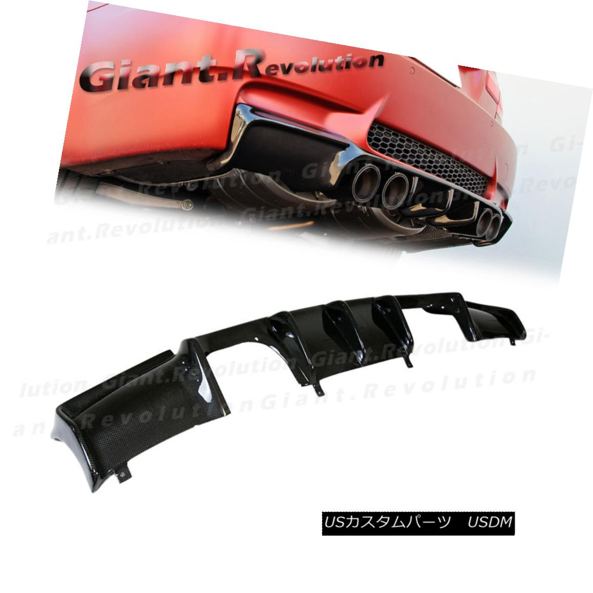 エアロパーツ Fit BW 08-13 E93 M3 Convertible 2D Carbon GT Look Rear Extension Bumper Diffuser フィットBW 08-13 E93 M3コンバーチブル2DカーボンGTルーフエクステンションバンパーディフューザー