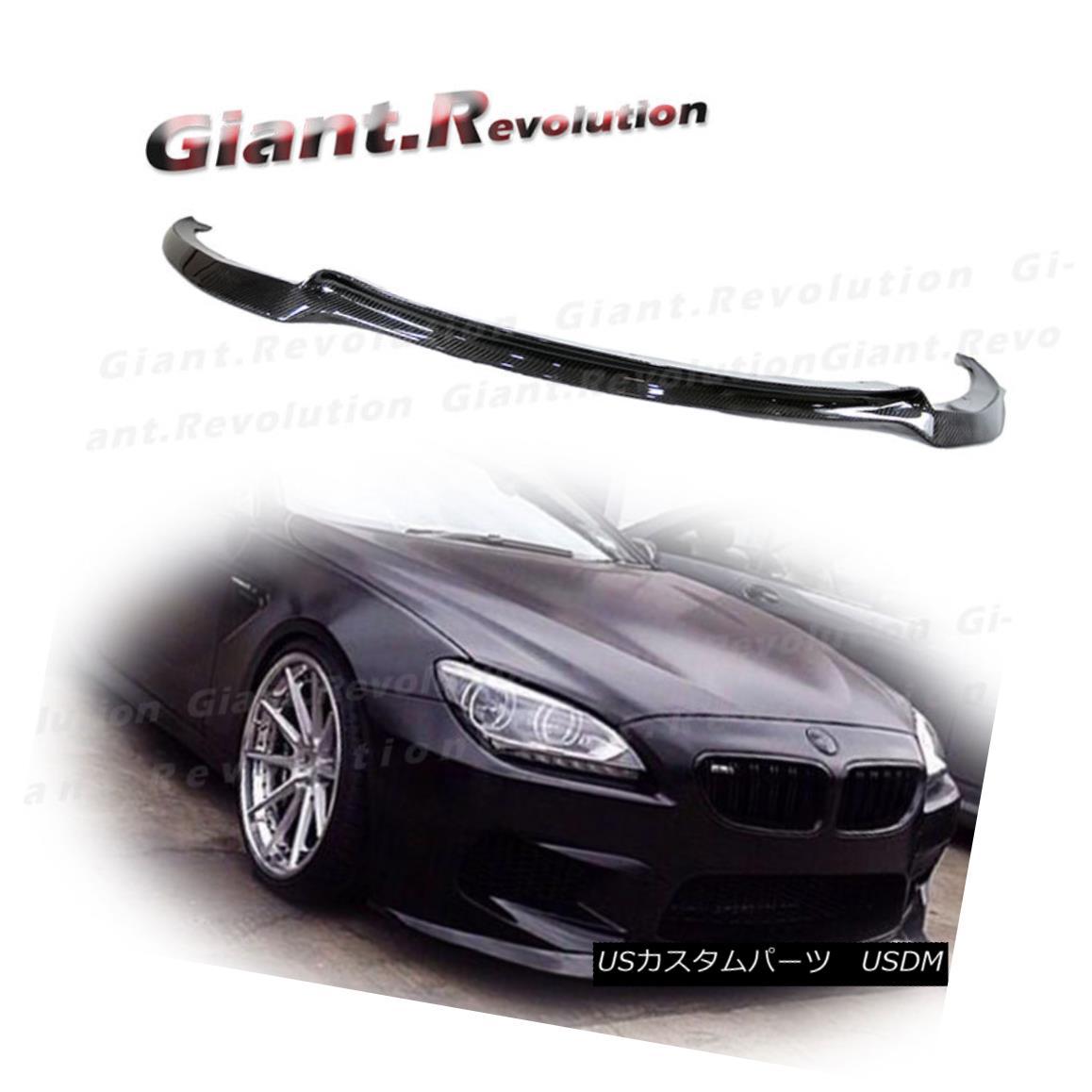 エアロパーツ For 2014UP BW F12 F13 M6 Bumper Carbon Fiber V Style Front Lower Spoiler Add Lip 2014UP BW用F12 F13 M6バンパーカーボンファイバーVスタイルフロントロワースポイラー追加リップ