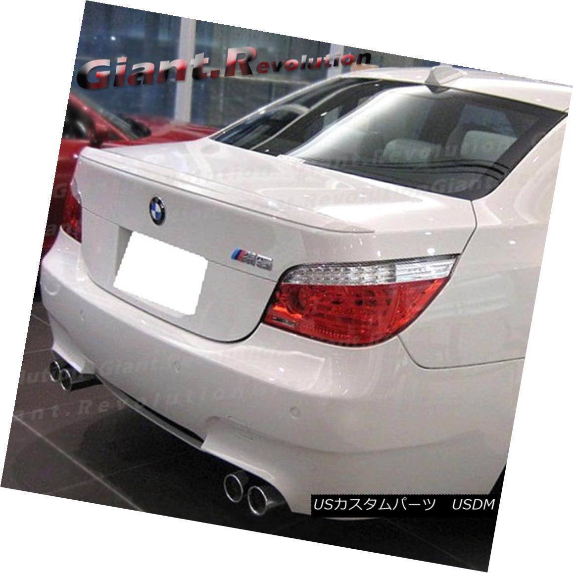 エアロパーツ For BW 04-10 E60 535i 528i 550i M5 Sedan 4DR Painted Color M Style Trunk Spoiler BW 04-10用E60 535i 528i 550i M5セダン4DR塗装カラーMスタイルトランク・スポイラー
