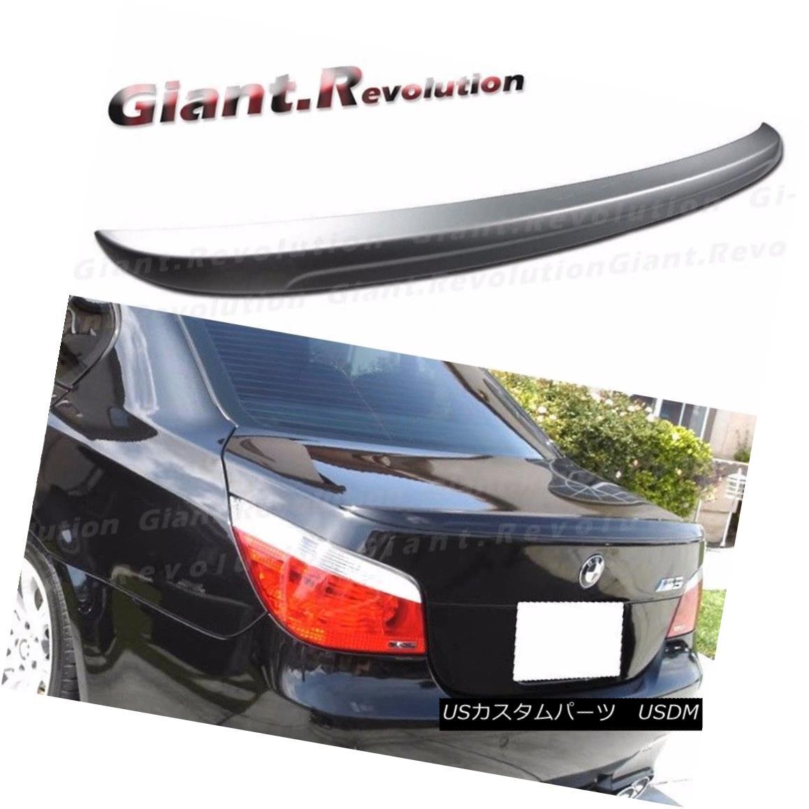 エアロパーツ Painted M Type Trunk Boot Spoiler Tail For BMW 04-10 E60 528i 550i 530i M5 Sedan BMW 04-10 E60 528i 550i 530i M5セダン用ペイントMタイプトランクブーツスポイラーテール