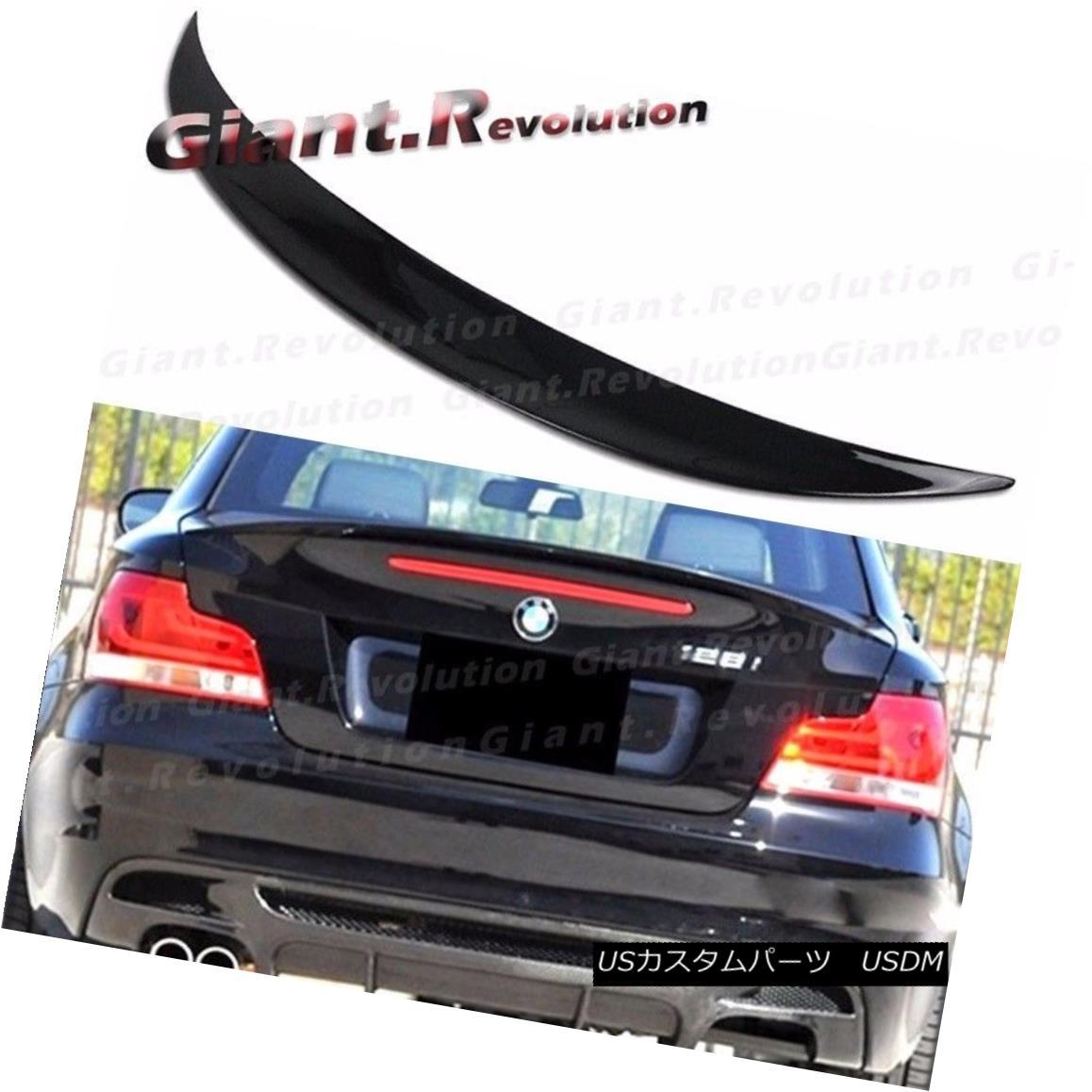 エアロパーツ #668 Jet Black Performance Trunk Spoiler Fit BMW 08-13 E82 2D 128i 135i 1M Wing #668ジェットブラック・パフォーマンス・トランク・スポイラー・フィットBMW 08-13 E82 2D 128i 135i 1Mウィング