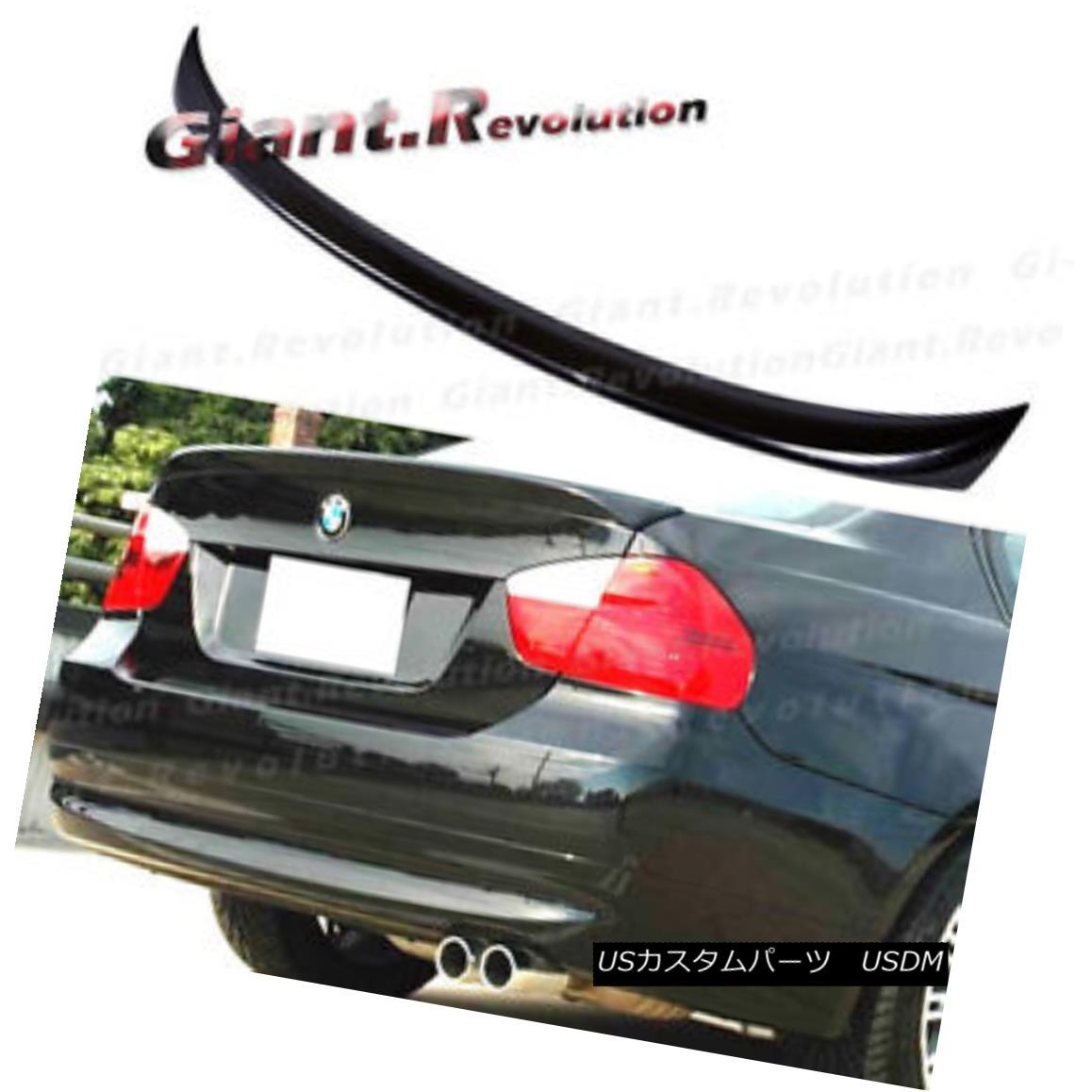 エアロパーツ #668 Jet Black OE Type Rear Deck Trunk Spoiler For BMW E90 328i 335i M3 4DR Wing #668 BMW E90用ジェットブラックOEタイプリアデッキトランク・スポイラー328i 335i M3 4DRウィング