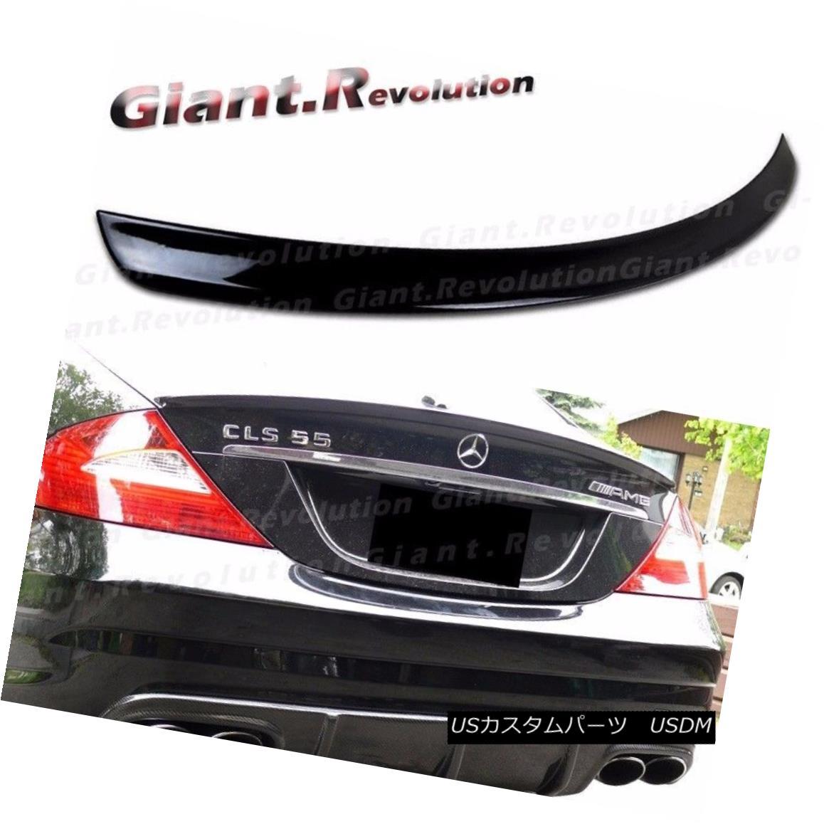 エアロパーツ #040 BLACK 04-2010 BENZ W219 A Look Trunk Spoiler CLS550 CLS63 Sedan Add On Boot #040 BLACK 04-2010 BENZ W219ルック・トランク・スポイラーCLS550 CLS63 Sedan Add On Boot