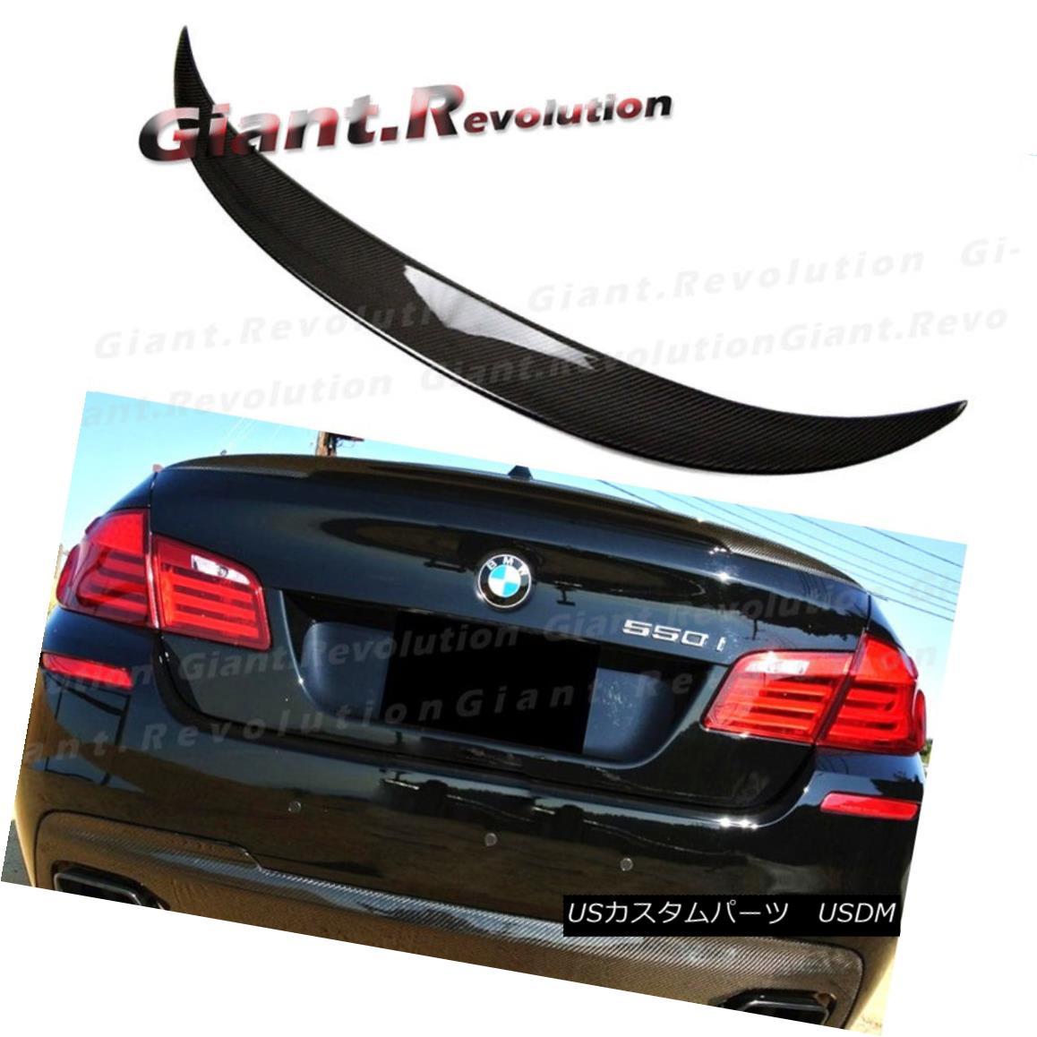 エアロパーツ Fit 11-16 BW F10 528i 550i M5 4D Wing Carbon Fiber P Type Trunk Spoiler Add Tail フィット11-16 BW F10 528i 550i M5 4Dウィング炭素繊維Pタイプトランク・スポイラー追加テール