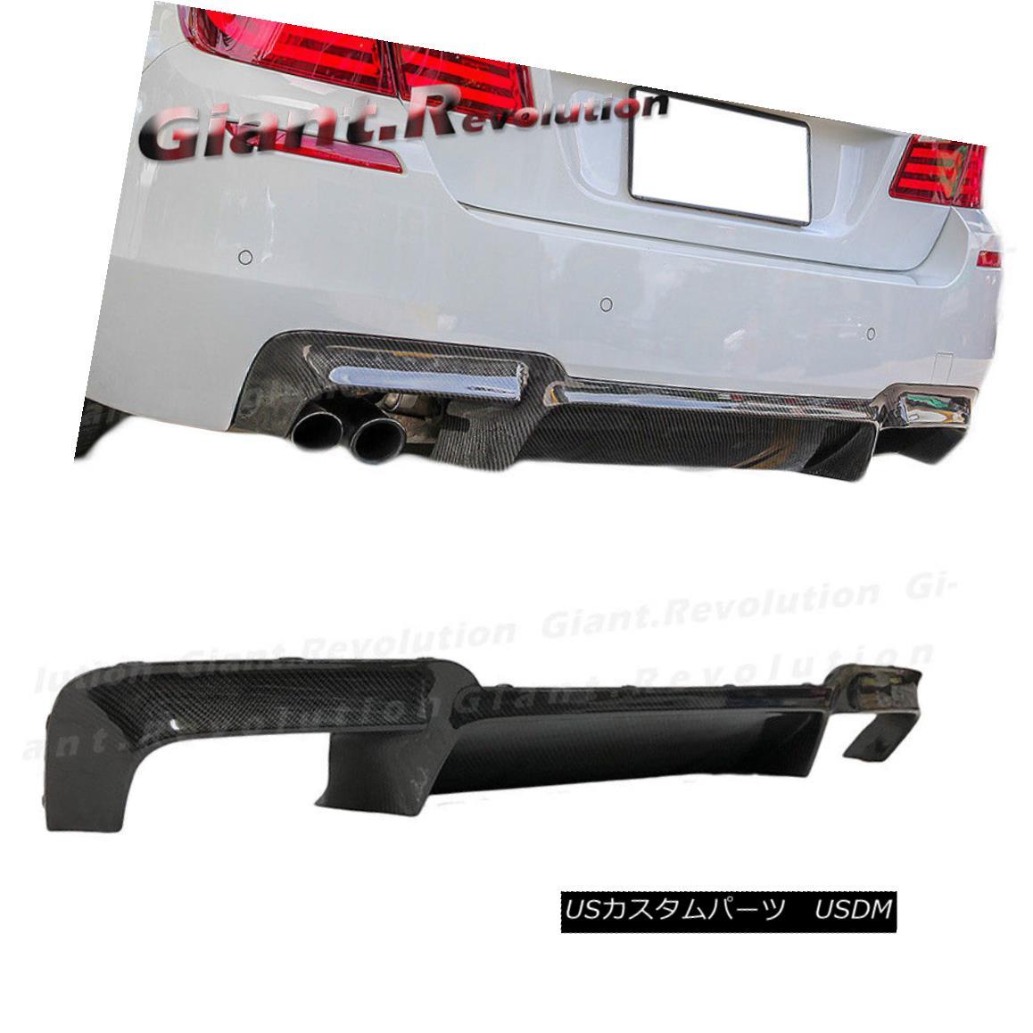 エアロパーツ Fit 12-16 BMW F10 M5 Bumper Replacement Carbon Fiber Rear Diffuser OE Style フィット12-16 BMW F10 M5バンパー交換カーボンファイバーリアディフューザーOEスタイル