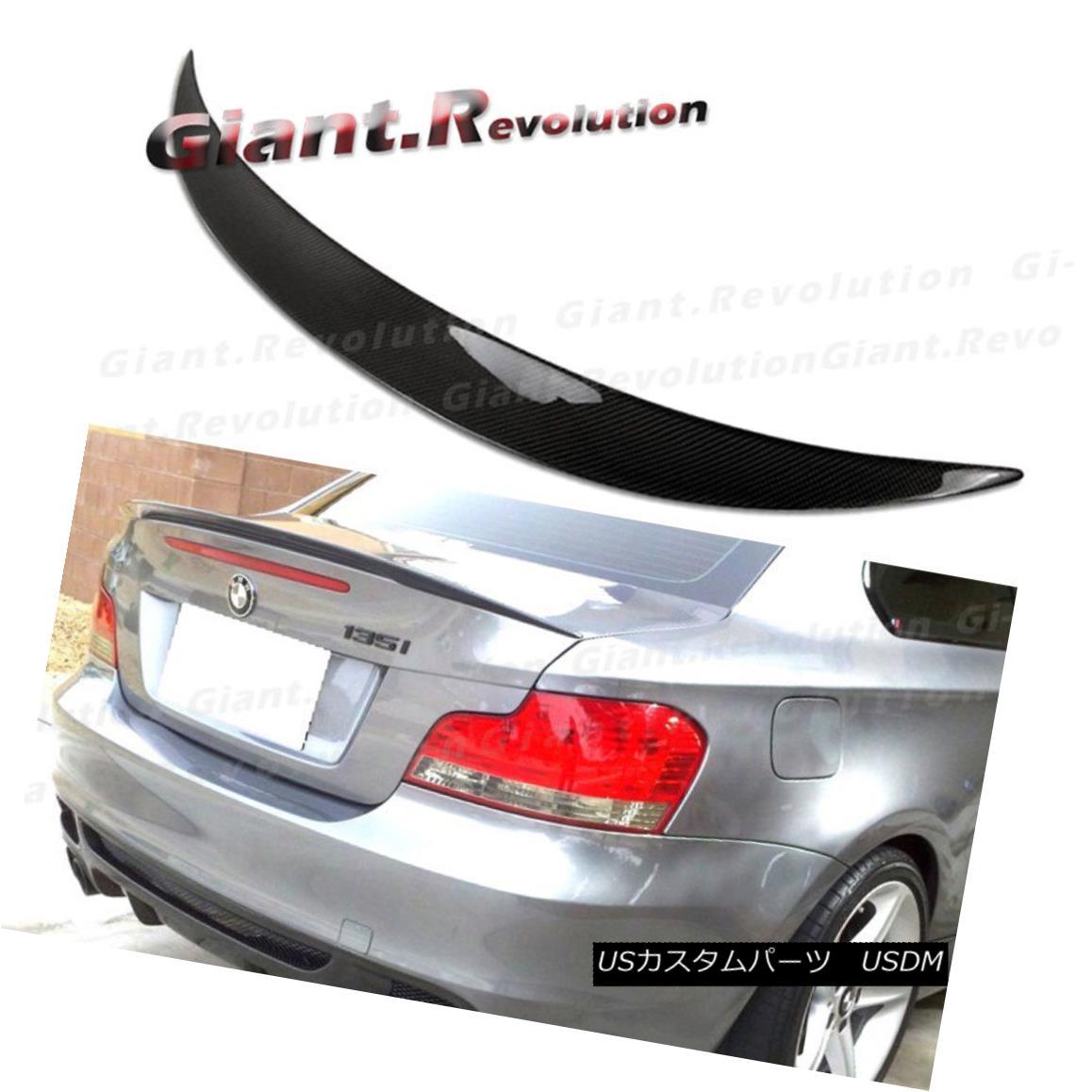 エアロパーツ Fit BMW 08-13 E82 128i 135i 2DR Boot Lid Carbon Fiber P Style Rear Trunk Spoiler フィットBMW 08-13 E82 128i 135i 2DRブーツリッドカーボンファイバーPスタイルリア・トランク・スポイラー