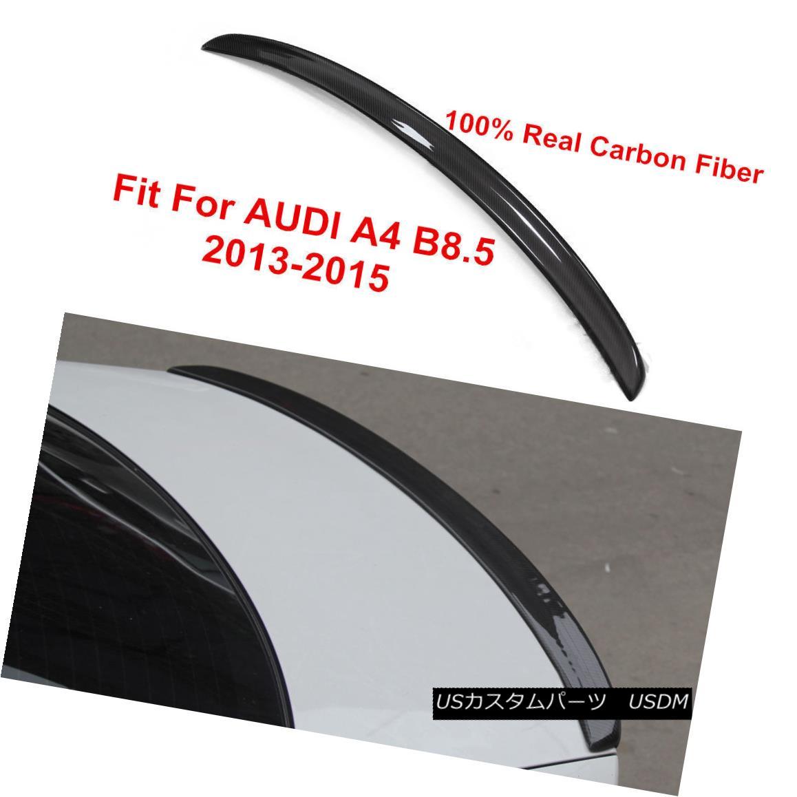 エアロパーツ S4 TYPE CARBON FIBER REAR TRUNK LIP SPOILER Fit For AUDI A4 B8.5 SEDAN 2013-2015 S4タイプカーボンファイバーリアトゥーンリップスポイラーフィットAUDI A4 B8.5 SEDAN 2013-2015