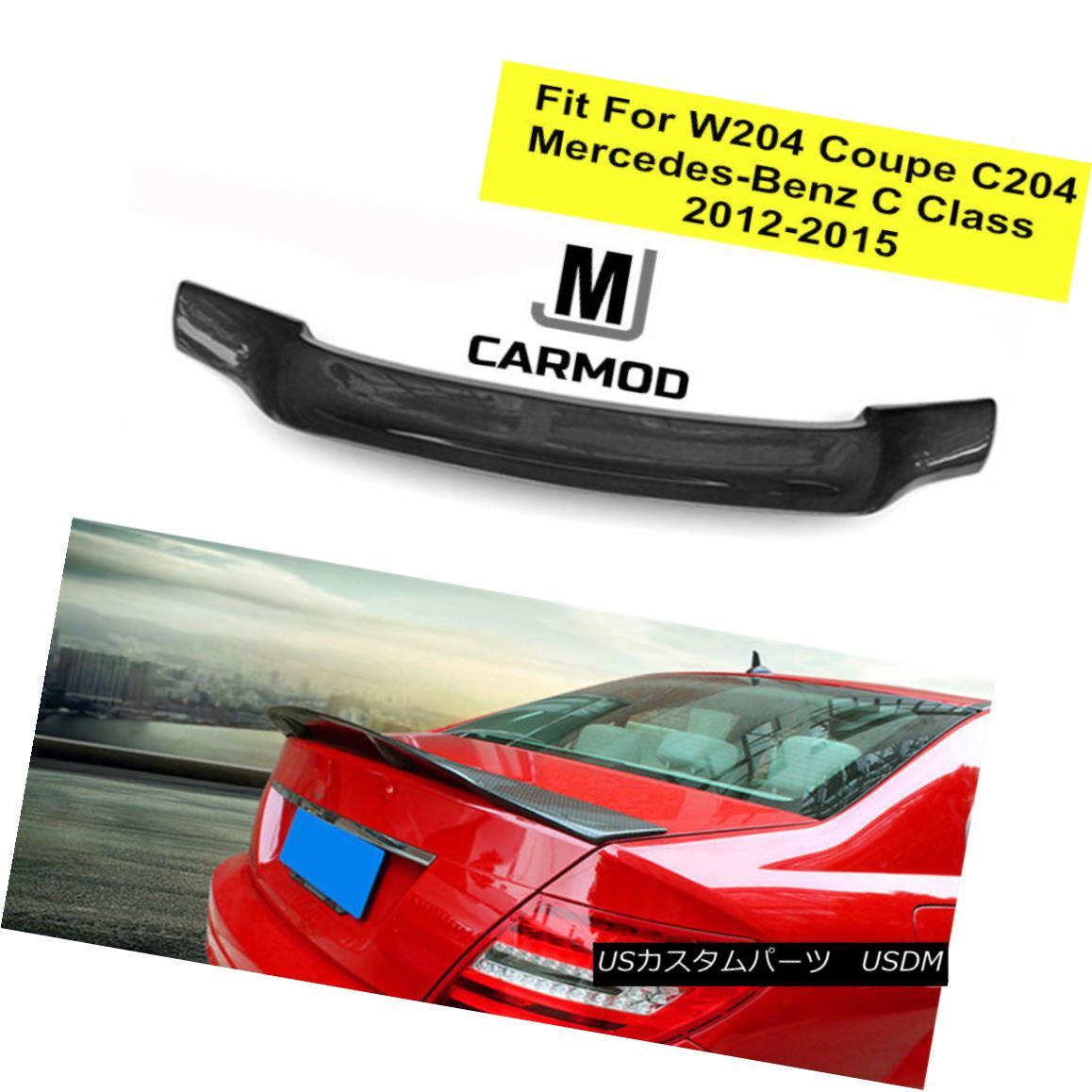 エアロパーツ Fit For Mercedes Benz C204 W204 Coupe C63 R-Type Carbon Fiber Lip Trunk Spoiler メルセデスベンツC204 W204クーペC63 Rタイプカーボンファイバーリップトランク・スポイラー