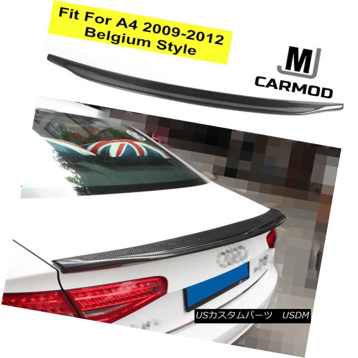 エアロパーツ Fit For AUDI A4 B8 SEDAN 2008-2012 Belg TYPE CARBON FIBER REAR TRUNK LIP SPOILER AUDI A4 B8 SEDAN 2008-2012に適合するベルギータイプ炭素繊維リアトゥーリップスポイラー