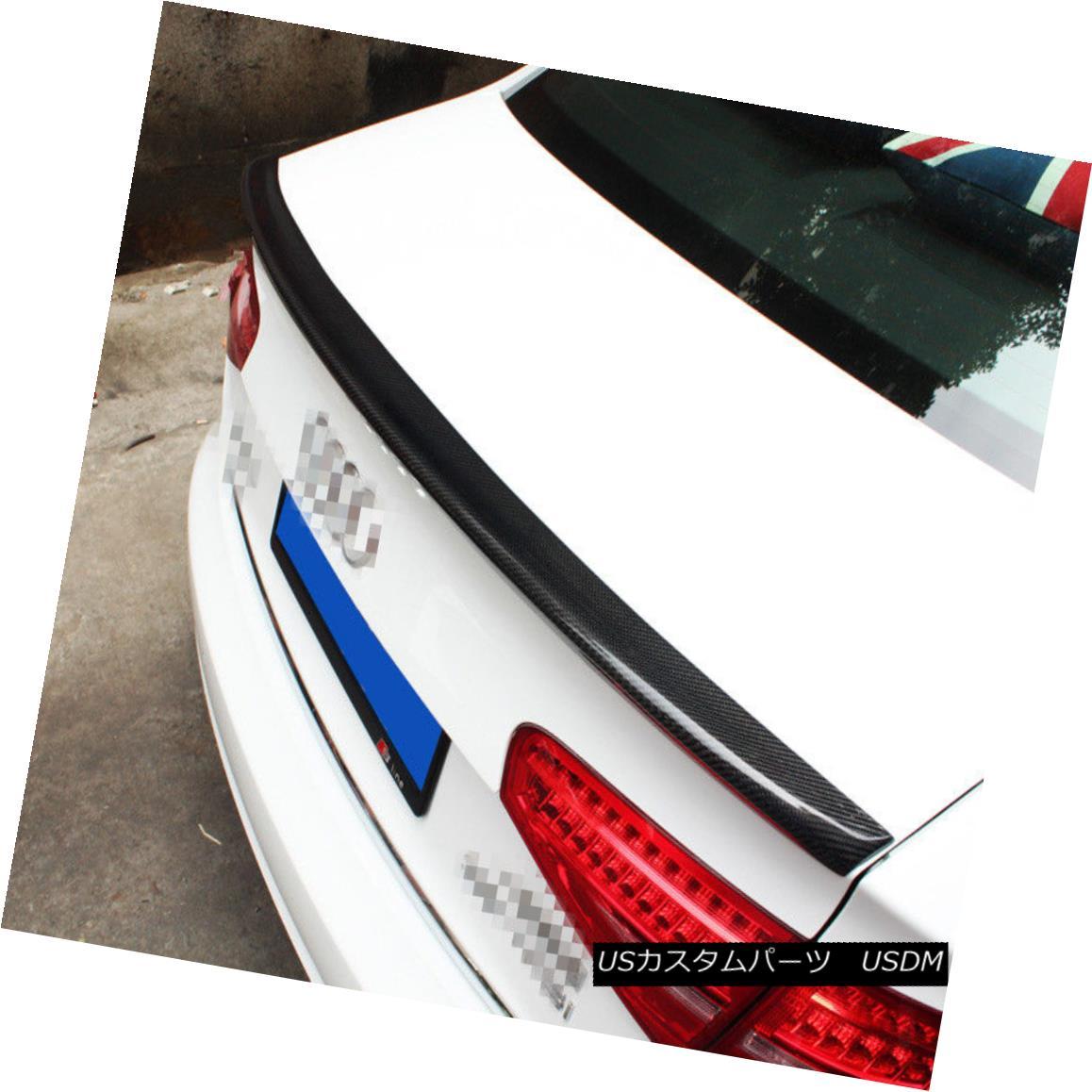エアロパーツ Fit For AUDI A4 Pre LCI B8 2008-2012 S STYLE CARBON FIBER REAR TRUNK LIP SPOILER AUDI A4フィット前LCI B8 2008-2012 Sスタイルカーボンファイバーリアトランクリップスポイラー