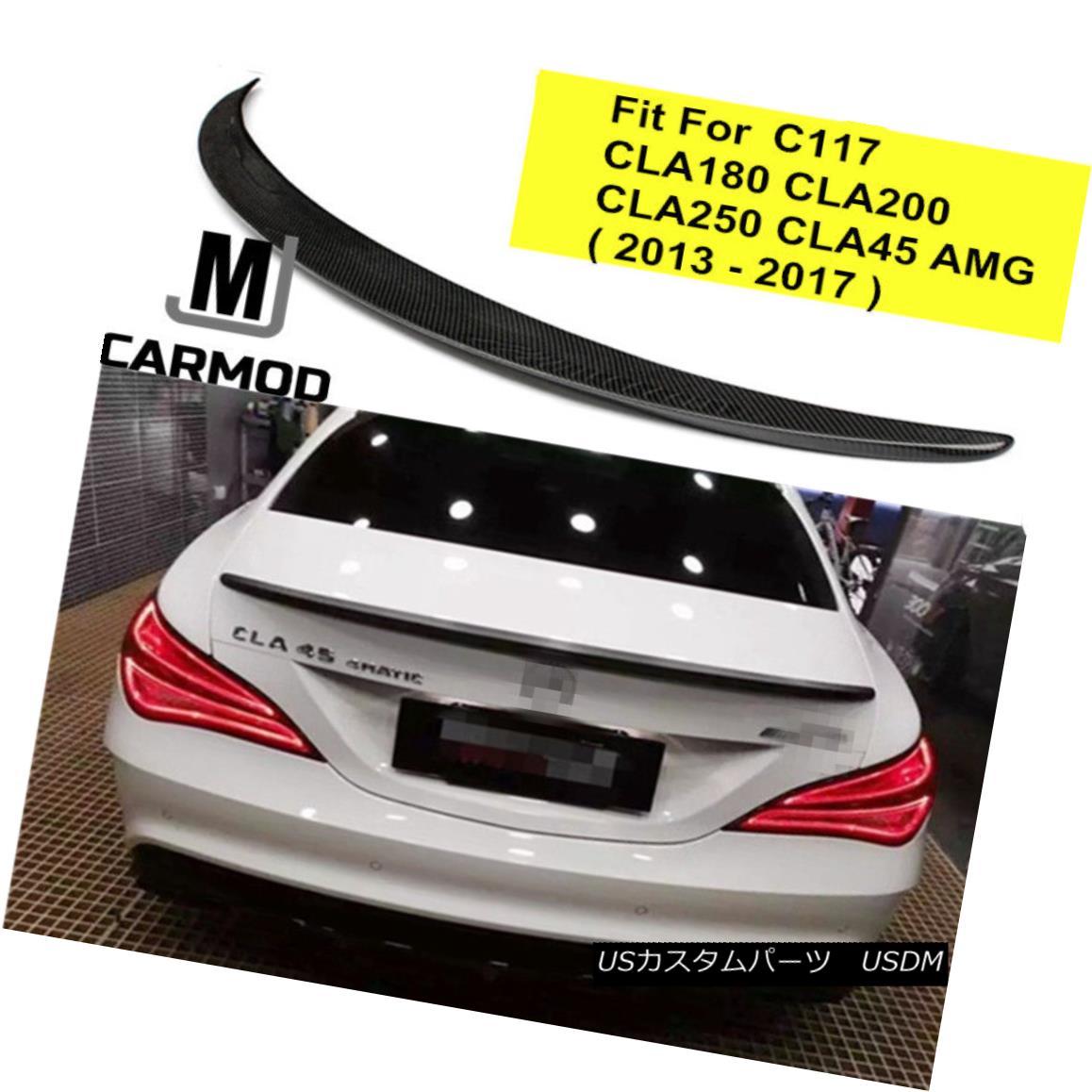 エアロパーツ Fit For Mercedes Benz C117 CLA200 CLA250 CLA45 AMG 2014-17 Carbon Fiber Spoiler メルセデスベンツC117 CLA200 CLA250 CLA45 AMG 2014-17カーボンファイバースポイラー