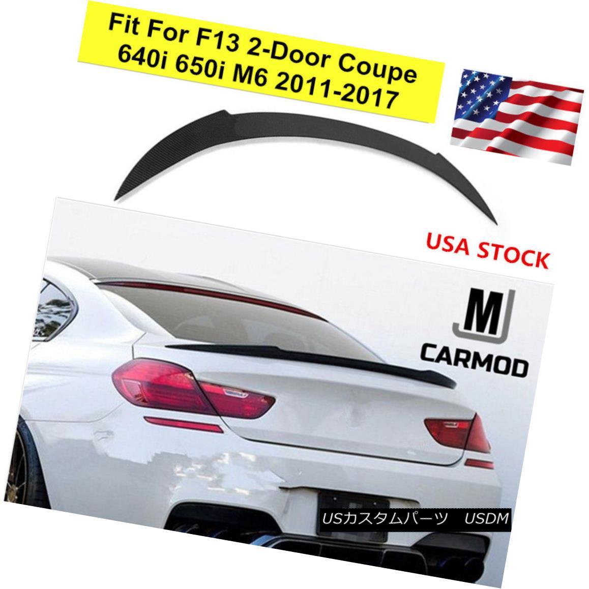 エアロパーツ Fit For F13 BMW 640i 650i 2 Door Coupe 2011+ CARBON FIBER V REAR SPOILER フィットF13 BMW 640i 650i 2ドアクーペ2011 +カーボンファイバーVリアスポイラー