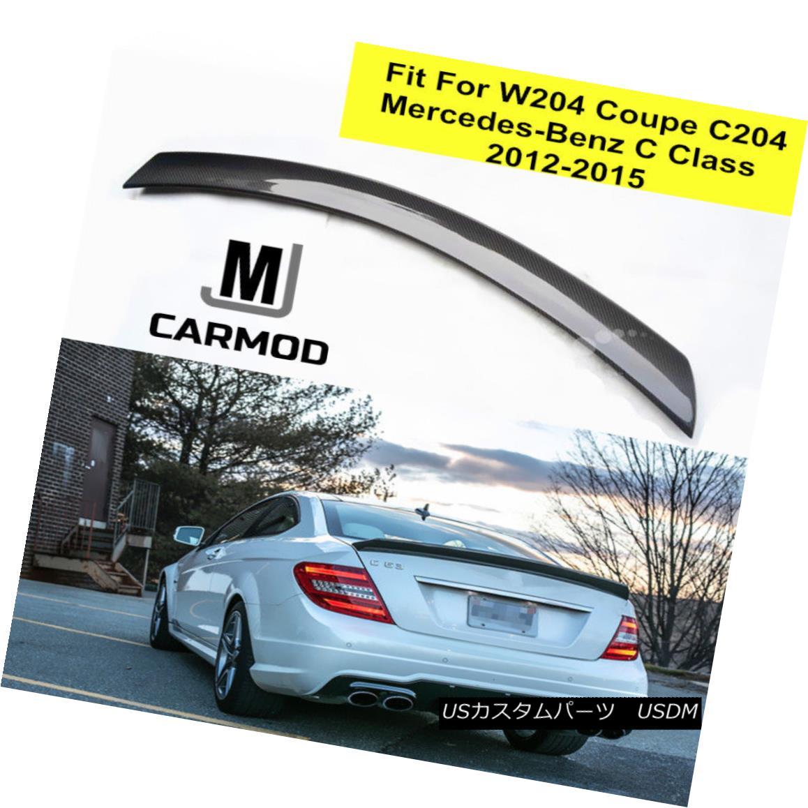 エアロパーツ Fit For Mercedes Benz C204 W204 Coupe V-Type Carbon Fiber Lip Trunk Spoiler メルセデスベンツC204 W204クーペV型炭素繊維リップトランク・スポイラー