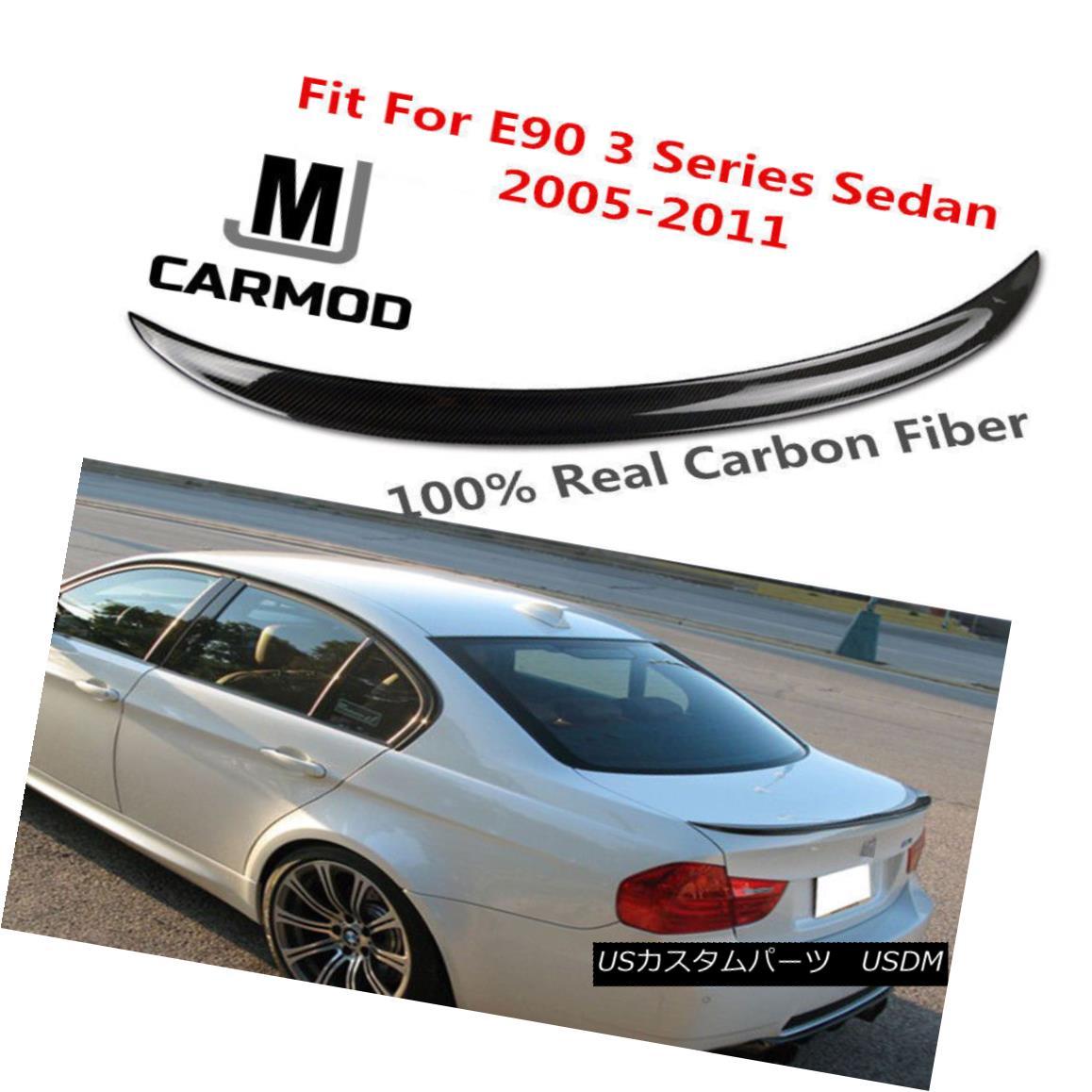 エアロパーツ FIT FOR BMW 3 Series 320i 323i 325i 335i 328i Sedan CARBON FIBER REAR SPOILER FIT FOR BMW 3シリーズ320i 323i 325i 335i 328iセダンカーボンファイバーリアスポイラ