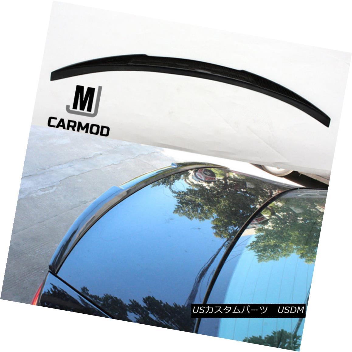 エアロパーツ Fit For Audi A6 Sedan 2012-17 Real Carbon Fiber Rear Wing Trunk Spoiler M4 Type アウディA6セダン用フィット2012-17リアルカーボンファイバーリアウイングトランクスポイラーM4タイプ