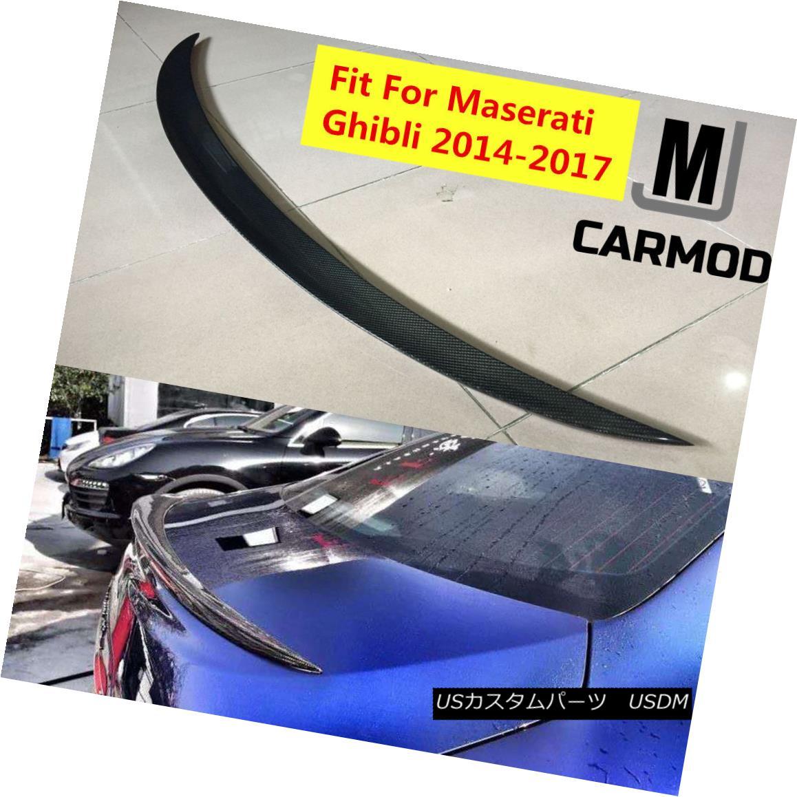 エアロパーツ Fit For Maserati Ghibli 2014-2017 Real Carbon Fiber Trunk Lip Spoiler WALD STYLE マセラティジブリ2014-2017リアルカーボンファイバートランクリップスポイラーWALD STYLE