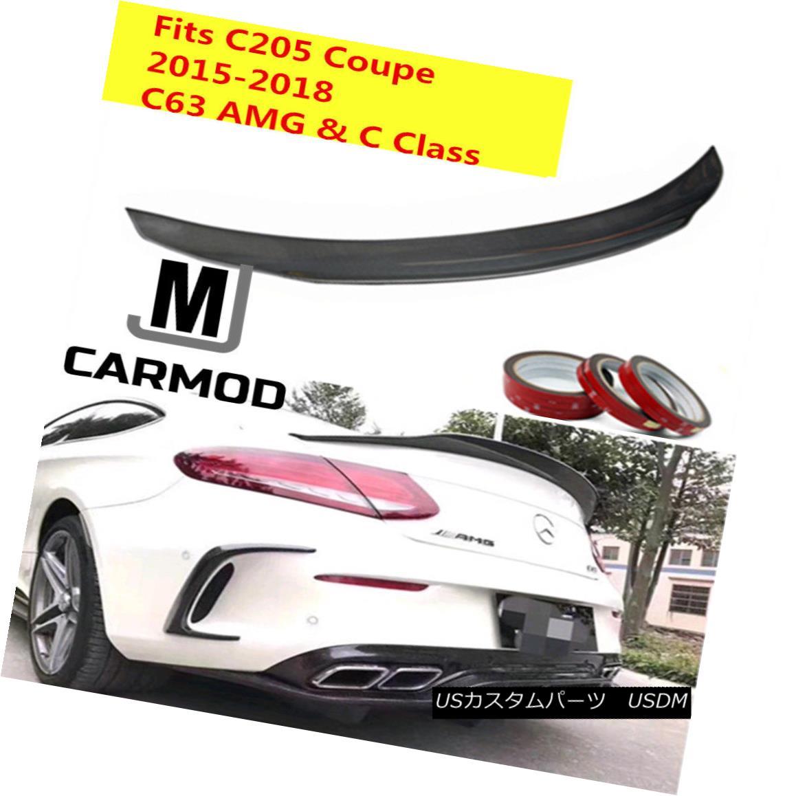エアロパーツ PSM Style Carbon Fiber Trunk Spoiler Fit For MERCEDES-BENZ C205 C63 AMG Coupe MERCEDES-BENZ C205 C63 AMGクーペ用PSMスタイル炭素繊維トランク・スポイラー・フィット