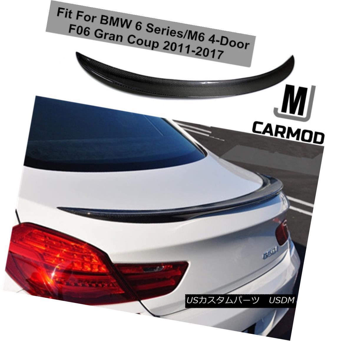 エアロパーツ Fit For F06 BMW 640i 650i Gran Coupe 2011-now CARBON FIBER M6 REAR TRUNK SPOILER F06に適合BMW 640i 650iグランクーペ2011-今すぐカーボンファイバーM6リアトランクスポイラー