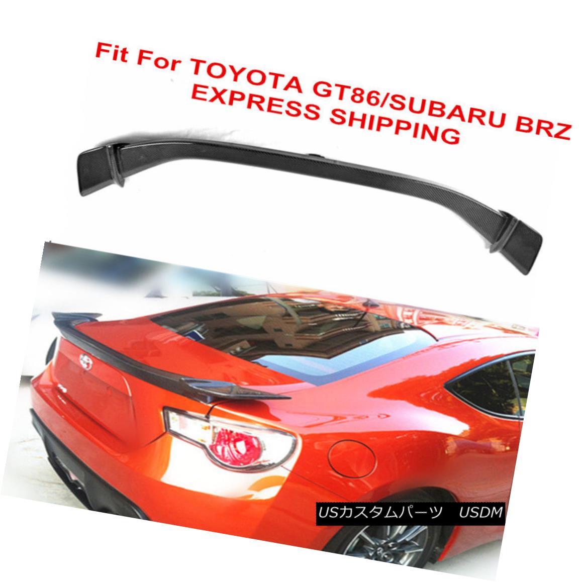 エアロパーツ Fit For Toyota 86 GT 2012-17 Subaru BRZ 13-17 Carbon Fiber Rear Trunk V Spoiler トヨタ86 GT 2012-17スバルBRZ 13-17カーボンファイバーリアトランクVスポイラー
